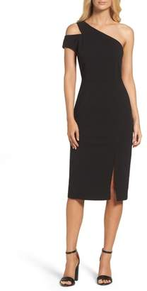 Maggy London One-Shoulder Sheath Dress