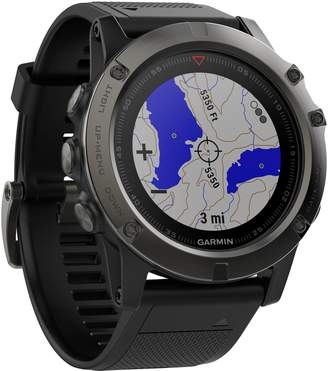 Garmin fenix(R) 5X Sapphire Premium Multisport GPS Watch, 51mm