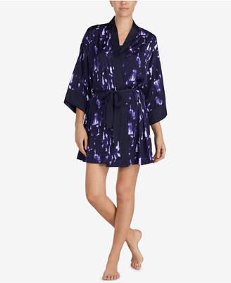DKNY Satin Kimono-Sleeve Robe