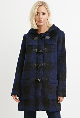 FOREVER 21+ Toggle-Front Plaid Coat $69.90 thestylecure.com