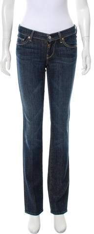 7 for all Mankind Low-Rise Straight-Leg Jeans w/ Tags