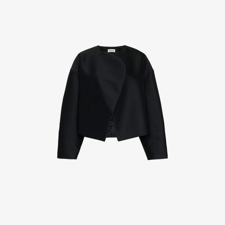 Vera cocoon wrap wool blend coat
