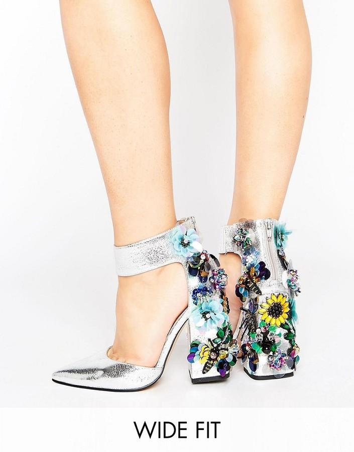 AsosASOS POPSTAR Wide Fit Embellished Heels