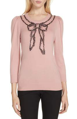 Kate Spade bow embellished sweater