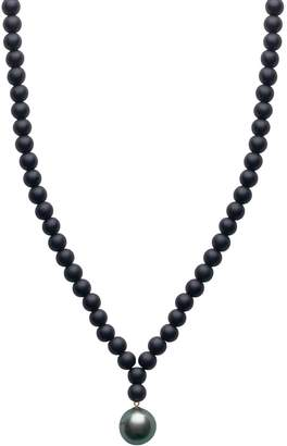 A+ro ORA Pearls - ARO Men's Large Tahitian Pearl & Onyx Necklace