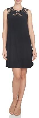 Women's Cece Cutout Yoke A-Line Shift Dress $99 thestylecure.com