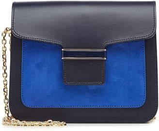 Vanessa Seward Leather Shoulder Bag with Suede