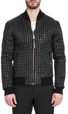 Dolce & Gabbana Glossy Quilted Bomber Jacket