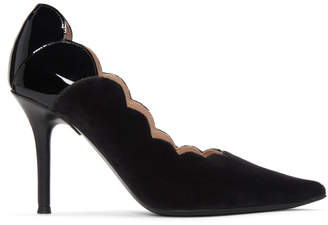 Chloé Black Velvet Pointed Lauren Heels