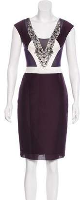 Reiss Sleeveless Embellished Dress