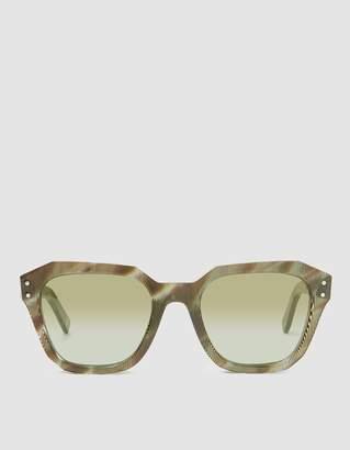 Ahlem Pont des Arts Sunglasses in Green Rhombus