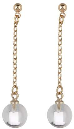 Ettika Clear Ball & Chain Dangle Earrings