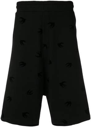 McQ swallow print shorts