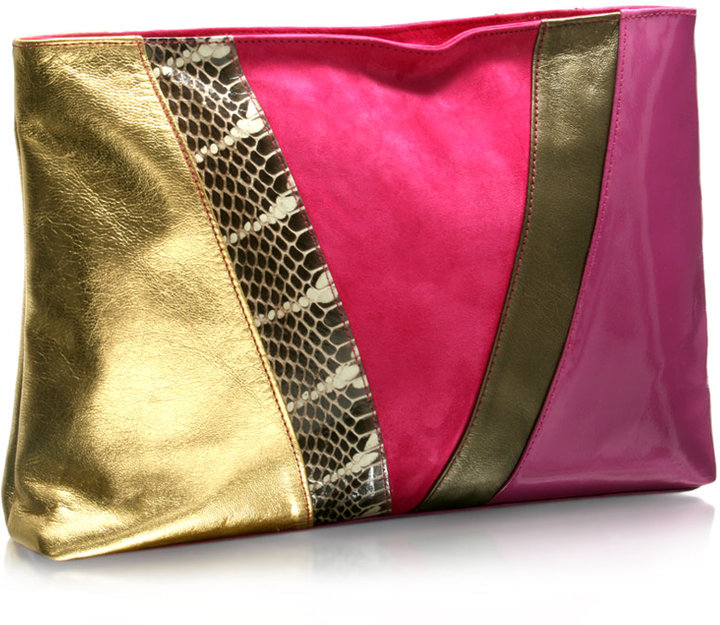 Mogil Exclusive to ASOS Oversized Panel Clutch Bag