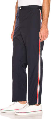 Thom Browne Unconstructed Trousers in Navy   FWRD