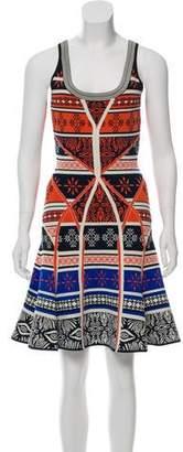 Diane von Furstenberg Printed A-Line Mini Dress