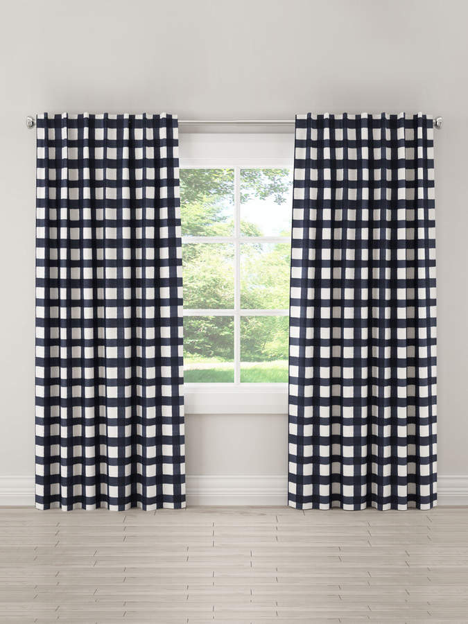 Buffalo Square Unlined Linen Curtain