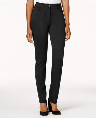 Style&Co. Style & Co Faux-Pocket Slim-Fit Pants, Created for Macy's