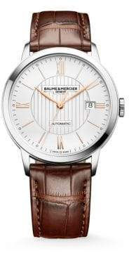 Baume & Mercier Baume& Mercier Women's Classima 10263 Stainless Steel& Alligator Strap Watch - Brown