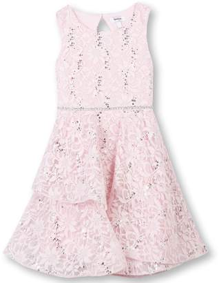 Speechless Big Girls' Allover Sparkle Lace Party Dress