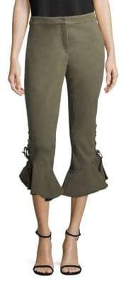 Crosley Lace-Up Ruffle Pants