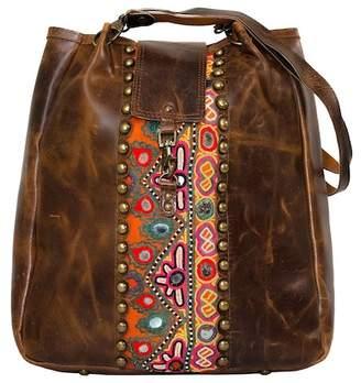 Vintage Addiction Leather Studded Shoulder Bag
