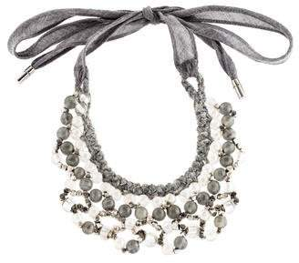 Brunello Cucinelli Beaded Collar Necklace