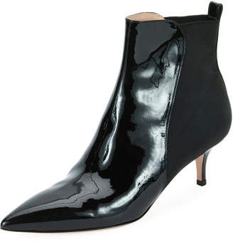 Gianvito Rossi Half-Stretch Patent Booties