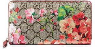 Gucci GG Blooms Supreme zip around wallet