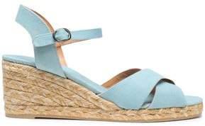 Castaner Blaudell Canvas Espadrille Wedge Sandals