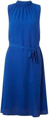 8c858d5c382 Dorothy Perkins Womens Cobalt Blue High Neck Chiffon Midi Dress