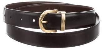 Salvatore Ferragamo Gancio Leather Buckle Belt