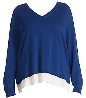 Joan Vass Women's Hi-Lo Sweater