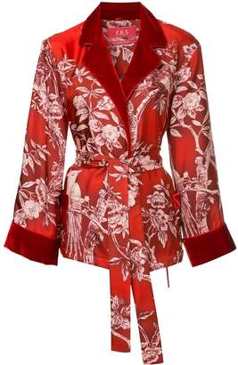 F.R.S For Restless Sleepers floral tie waist blouse