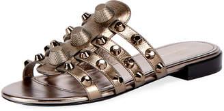 Balenciaga Classic Flat Studded Slide Sandal