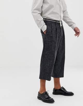 Asos cropped balloon smart pants in 100% wool cross hatch