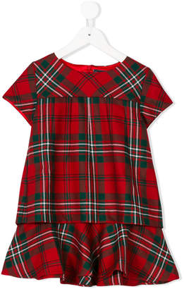 Oscar de la Renta Kids Holiday plaid layered dress