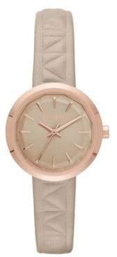 Karl Lagerfeld Paris Janelle Leather Strap Watch, KL1612