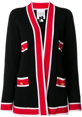 Edward Achour Paris contrast stripe cardigan