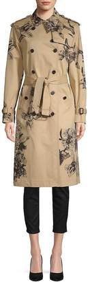 Valentino Women's Floral-Print Cotton Coat