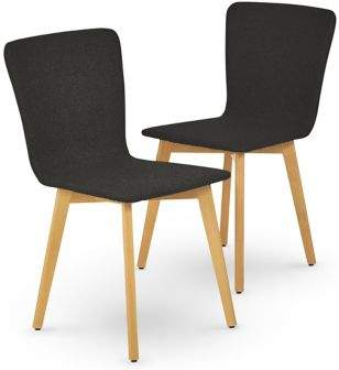 Marks and Spencer 2 Set of Brook Charcoal Natural Dining Chairs