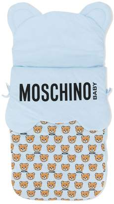 Moschino Kids logo sleeping bag