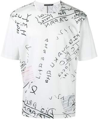 Issey Miyake lettering print T-shirt