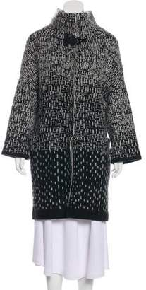 Emporio Armani Wool-Blend Patterned Coat