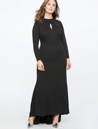 Keyhole Neckline Gown