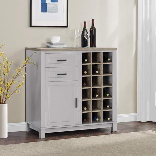 Mercury Row Callowhill Bar Cabinet with Wine Storage