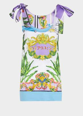 Versace Beverly Palm Knot Sleeve Top