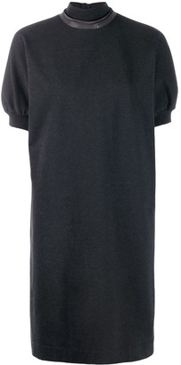 Brunello Cucinelli turtle-neck shift dress