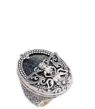 Konstantino Santorini Hematite Ring
