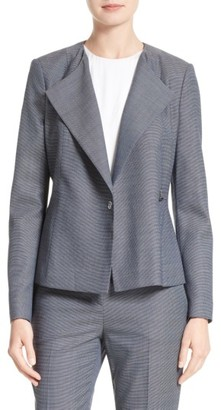 Women's Boss Jelanisa Double Breasted Wool Blend Suit Jacket $575 thestylecure.com